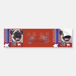 July 4th Firecracker - Pug Bumper Stickers