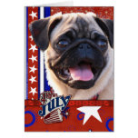 July 4th Firecracker - Pug Greeting Cards