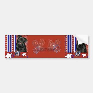 July 4th Firecracker - Pug - Ruffy Bumper Stickers