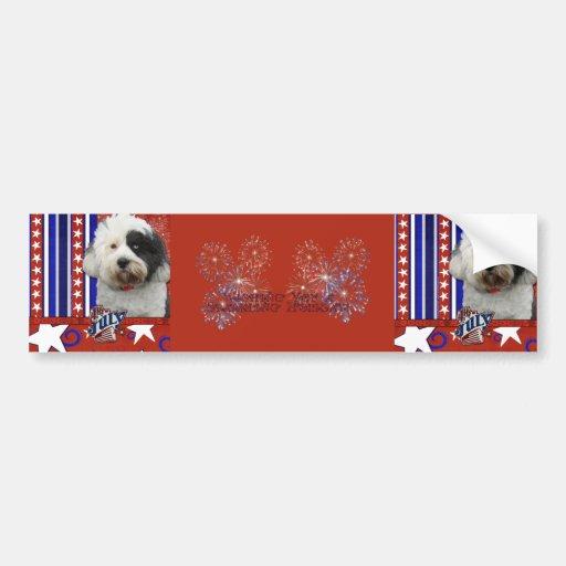 July 4th Firecracker - Tibetan Terrier Bumper Sticker
