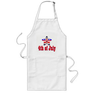 July 4th fireworks long apron