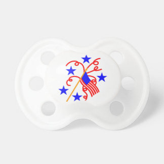 July 4th Flag Pacifier