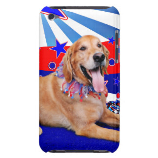 July 4th - Golden Retriever Barely There iPod Covers