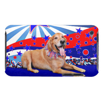 July 4th - Golden Retriever iPod Touch Case