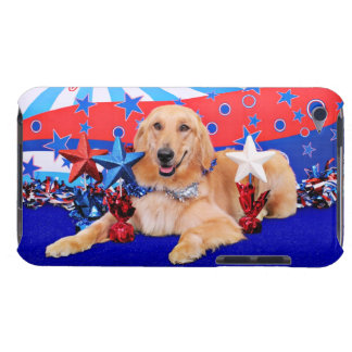 July 4th - Golden Retriever - JJ Barely There iPod Cover