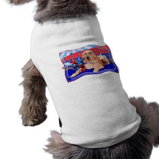 July 4th - Golden Retriever - JJ Doggie Tshirt