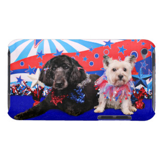 July 4th - GoldenDoodle Abby - Cairn Roxy iPod Case-Mate Cases