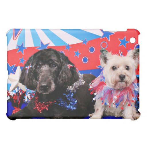 July 4th - GoldenDoodle Abby - Cairn Roxy iPad Mini Covers