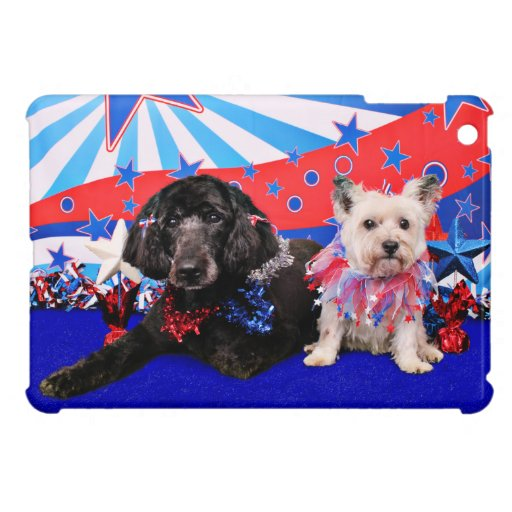July 4th - GoldenDoodle Abby - Cairn Roxy Case For The iPad Mini
