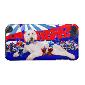 July 4th - GoldenDoodle - Max iPod Touch 5G Cases
