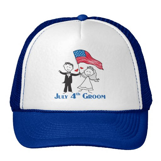 July 4th Groom Gifts Mesh Hats