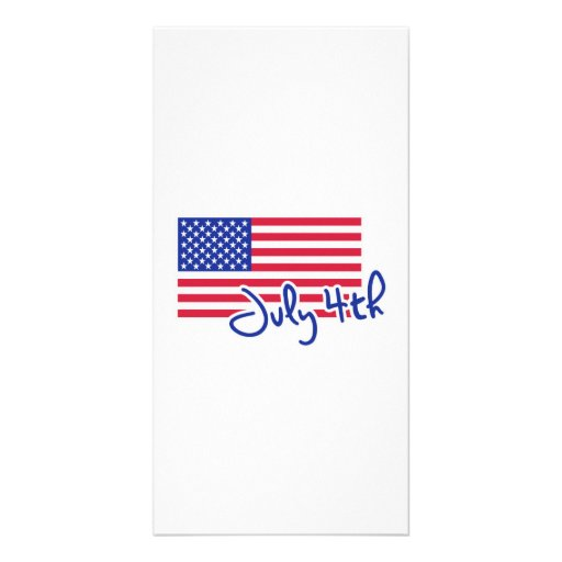 July 4th Independence day flag Photo Card Template