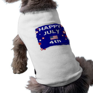 July 4th (Independence Day) Sleeveless Dog Shirt