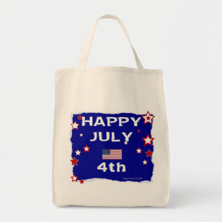 July 4th (Independence Day) Grocery Tote Bag