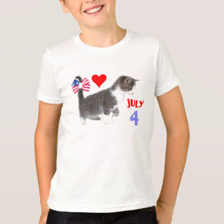 July 4th Kitten T-Shirt