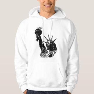 July 4th Liberty statue men hoodie