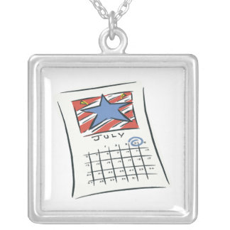 July 4th personalized necklace