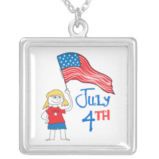 July 4th custom necklace