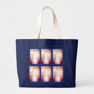 July 4th or Bastille Day tote Jumbo Tote Bag