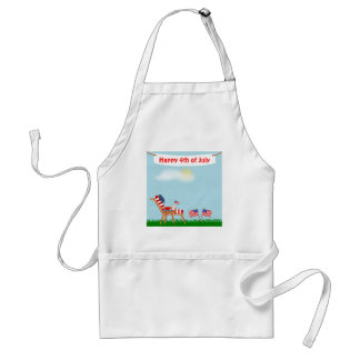 July 4th or Memorial Day American Flag Lawn Chair Standard Apron