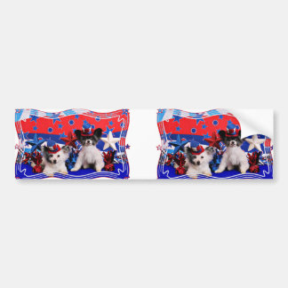 July 4th - Papillon - Franny and Bucky Bumper Sticker