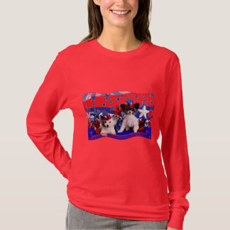 July 4th - Papillon - Franny and Bucky T-Shirt