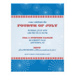 July 4th Party Explosion Party Invitation