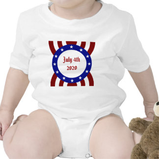 July 4th Patriotic Circle of Stars Rompers