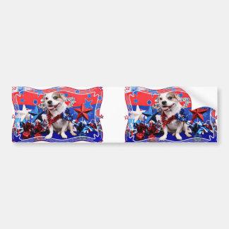 July 4th - Pitbull X - Opie Bumper Sticker