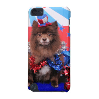 July 4th - Pomeranian - Fred iPod Touch (5th Generation) Covers