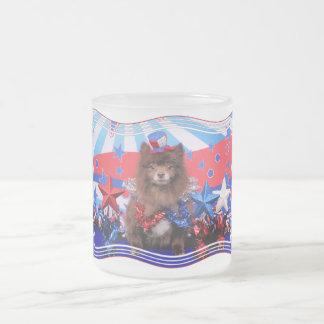 July 4th - Pomeranian - Fred Coffee Mug