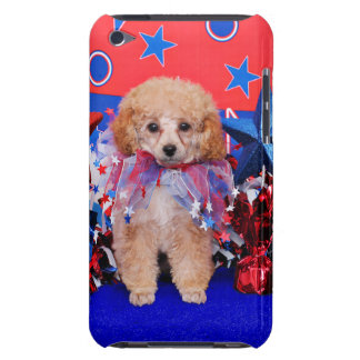 July 4th - Poodle - Lily iPod Case-Mate Cases