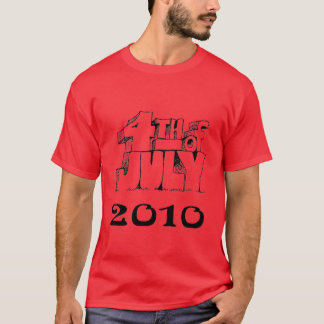 july 4th  red t-shirt