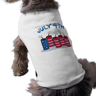 July 4th sleeveless dog shirt