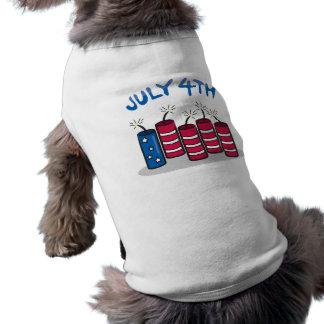July 4th sleeveless dog shirt