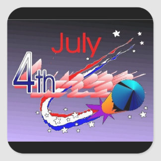 July 4th - Square Sticker