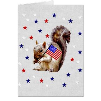 July 4th Squirrel Card