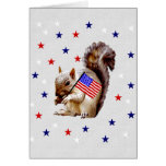 July 4th Squirrel Note Card