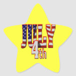 July 4th star stickers