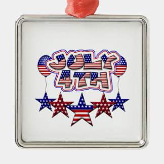 July 4th Stars Christmas Ornament
