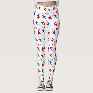 July 4th Stars Leggings