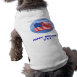 July 4th T-Shirts and Unique Gift Items Doggie Tshirt
