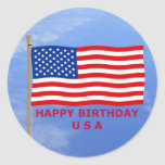 July 4th T-Shirts and Unique Gift Items Round Sticker