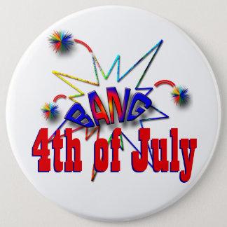 July 4th USA 6 Cm Round Badge