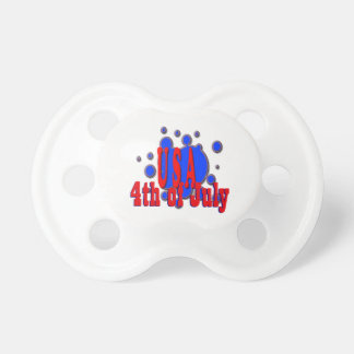 July 4th USA Baby Pacifier