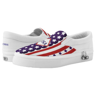 July 4th USA Independence Stars & Stripes (cust.) Slip On Shoes
