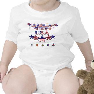 July 4th USA Infant Creeper