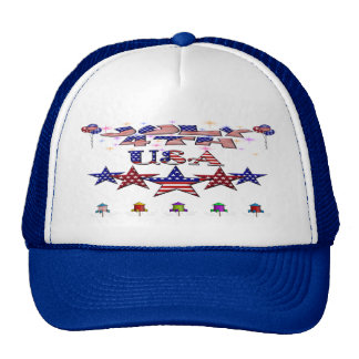 July 4th USA Trucker Hat