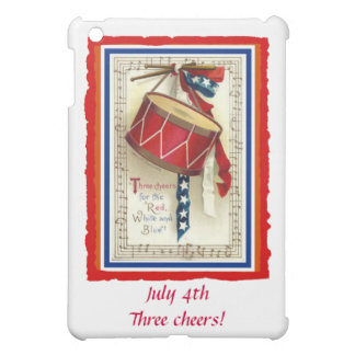 July 4th Vintage Marching Drum Red White & Blue Case For The iPad Mini