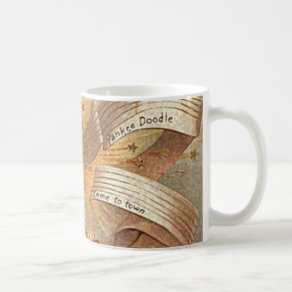 July 4th vintage yankee doodle basic white mug